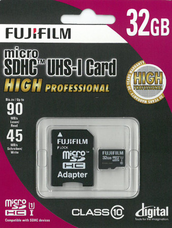 Fujifilm micro-SDHC Karte 32 GB High Performance Class 10 inkl. SD-Adapter