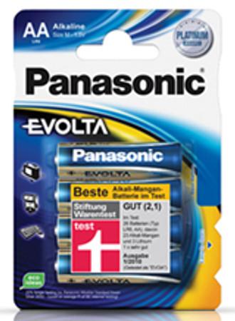 Panasonic Batterie EVOLTA Mignon (AA/LR6) 1,5 V 4er Packung