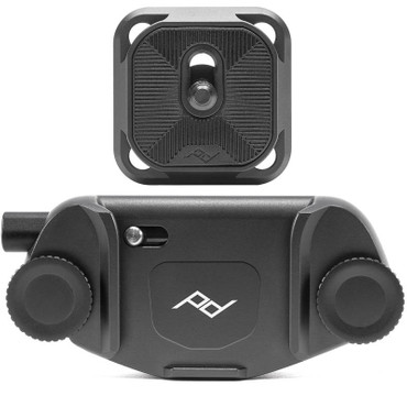 Peak Design Capture Clip v3 Black inkl. Standard Plate Kameraclip zum Tragen von DSLR-/DSLM-Kameras an Gurten oder Gürteln