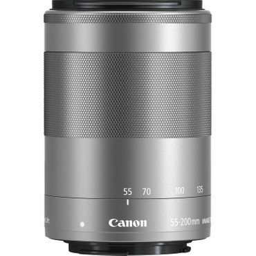 Canon EF-M 55-200 mm f/4.5-6.3 IS STM silber