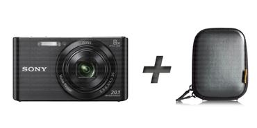 Sony Cyber-shot DSC-W830 + Tasche – schwarz