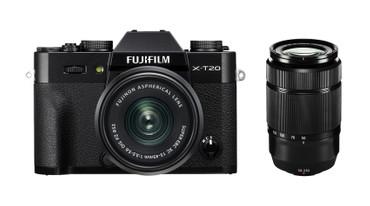 Fujifilm X-T100 Doppelzoom KIT Dark Silver mit FUJINON XC 15-45 mm OIS PZ + XC 50-230mm OIS II