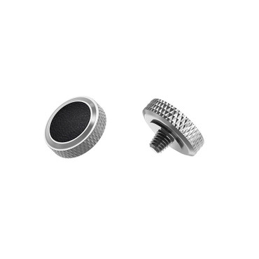 JJC SRB-GR Black Schwarz/Silber Auslöseknopf zum Einschrauben