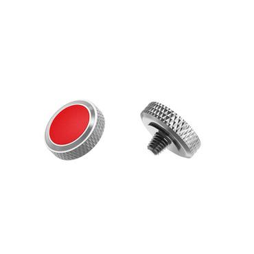 JJC SRB-GR Red Rot/Silber Auslöseknopf zum Einschrauben
