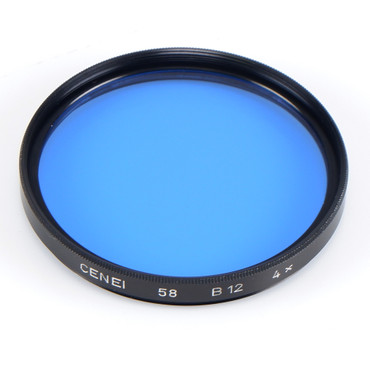 Cenei Filter B 12 blau 58 mm 4x (80 B) Gelegenheit