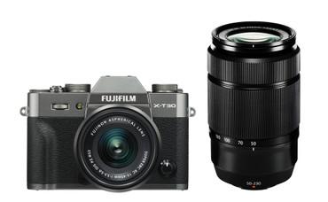 Fujifilm X-T30 Doppelzoom KIT mit Fujinon XC 15-45 + XC 50-230 anthrazit