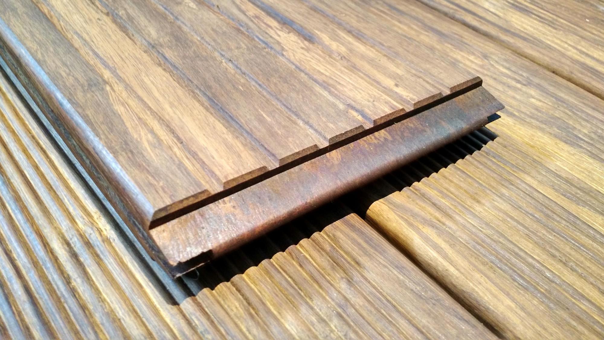 Terrassendielen Bambus 1 lfm cobam bambus terrassendielen standard 2200 mm baumarkt garten