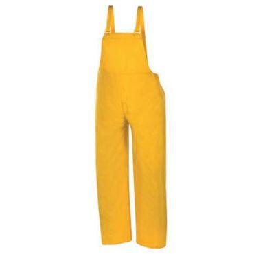 Regenschutz-Latzhose Regenhose PVC Nässeschutz-Hose gelb