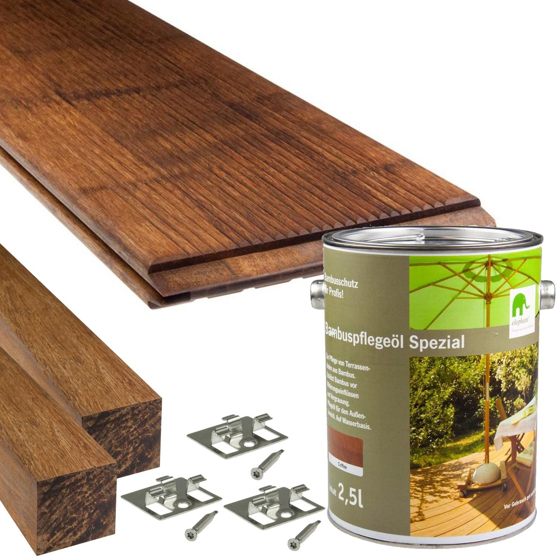 Cobam Bambus Terrassendielen Standard Komplettset Redealer