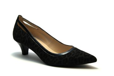 Carbon Leo Schwarz Lack / Pumps
