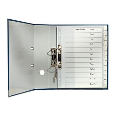 Leitz 12740000 Plastikregister Blanko, A4, PP, 12 Blatt, grau