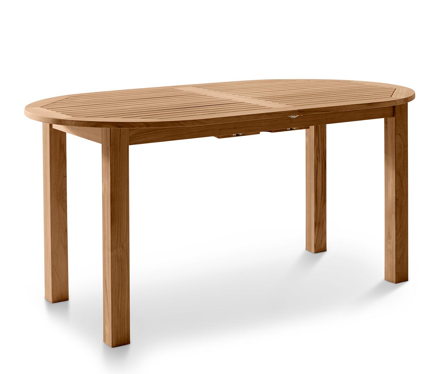 Détails sur Teak-Gartentisch Env. 150-200x90 Extensible à Manger Table en  Bois Ovale