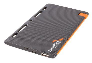 GoEnerplex JU-SLATE-5KLI Ultra-Slim Akku-Pack mit integriertem Lightning micro-USB Kabel (5100mAh) silber