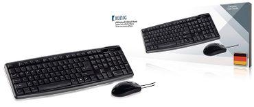 USB-Tastatur mit optische Maus schwarz