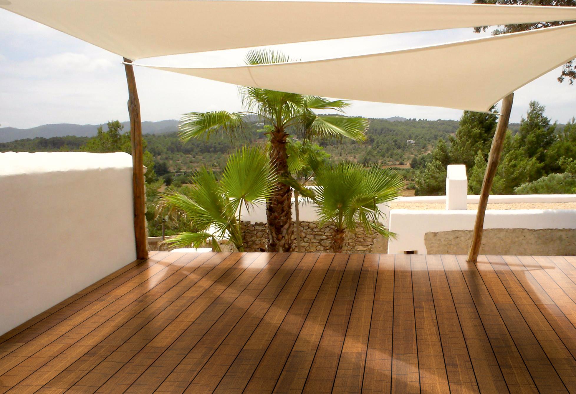 [Paket] CoBAM S Bambus Terrassendielen Komplettset