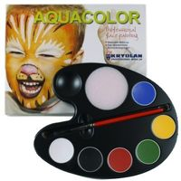 Aquacolor Facepainting, Palette 6 paints