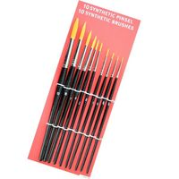Synthetic Pinsel Set 10x rund schwarz