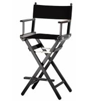 Director Chair >Makeup<  black solid beech wood