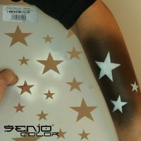 Bodyart Spray paint stencil A4 - Stars 01