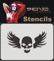 Bodyart Spray paint stencil A6 - Skull Tattoo 01