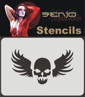 Airbrush Schablone A6 - Skull Tattoo 01