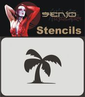 Bodyart Spray paint stencil A6 - Palmtree