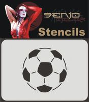 Bodyart Spray paint stencil A6 - Soccer/Football