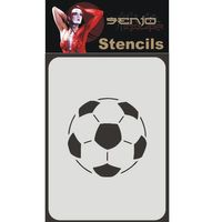 Bodyart Spray paint stencil A4 - Soccer