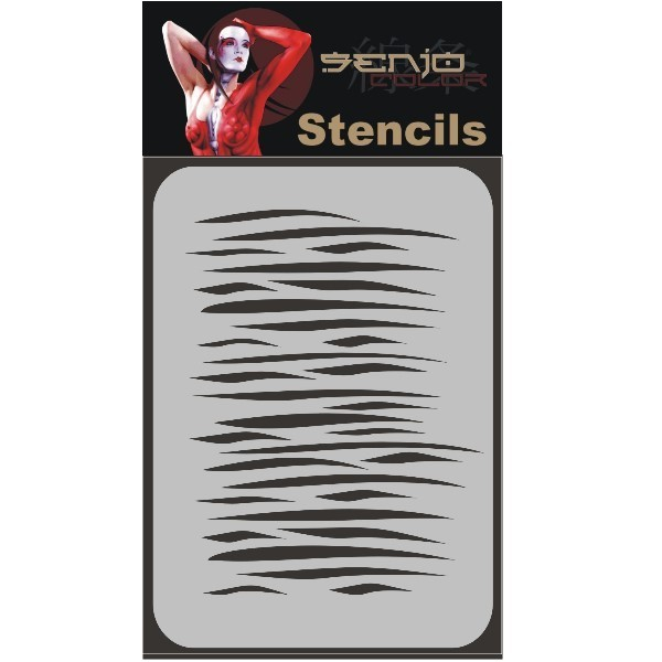 Bodyart Spray paint stencil A5 - Zebra-1