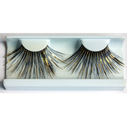 Eyelashes extra-long 9376 black /golden