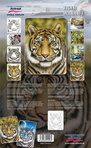 Tiger Wildlife Airbrush Schablone