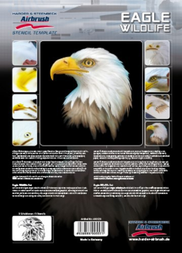 Eagle Wildlife Airbrush Spray paint stencil