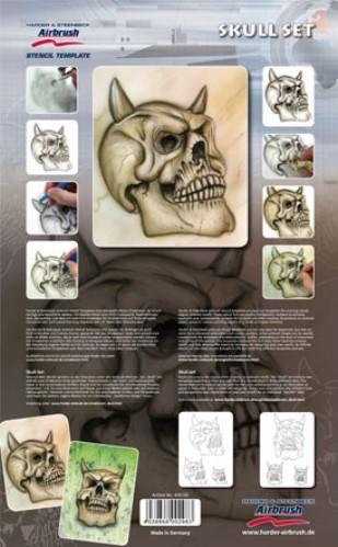 Skull Set Airbrush Spray paint stencil