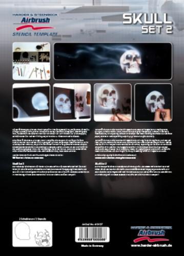 Skull Set 2 Airbrush Schablonen