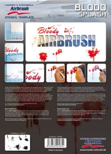 Blood Splash Airbrush Schablonen