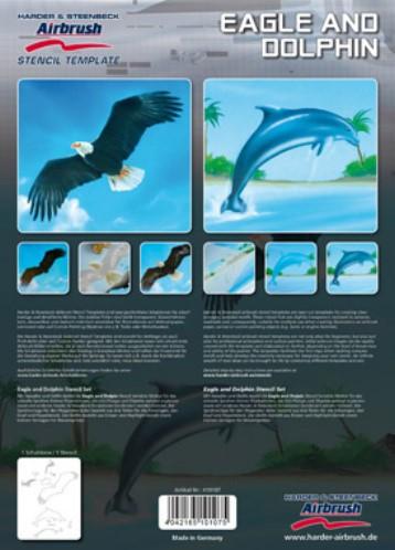 Adler und Delphin Airbrush Schablonen