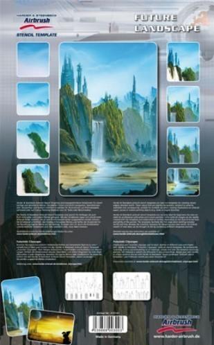 Futuristic Cityscape 2 XL Airbrush Schablonen