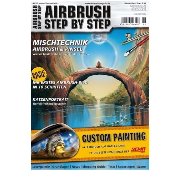 Airbrush Step by Step  Magazine - 01/2010