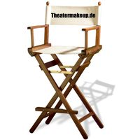 Director Chair >Makeup< brown solid beech wood