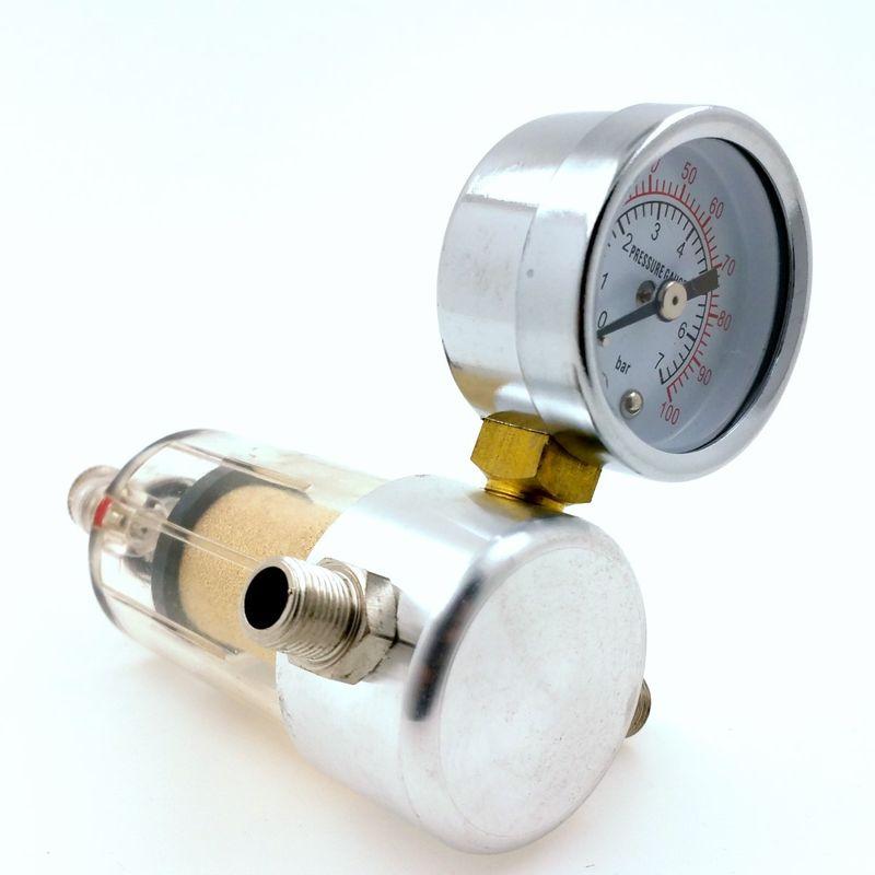 Wasserabscheider mit Manometer 0-7 Bar