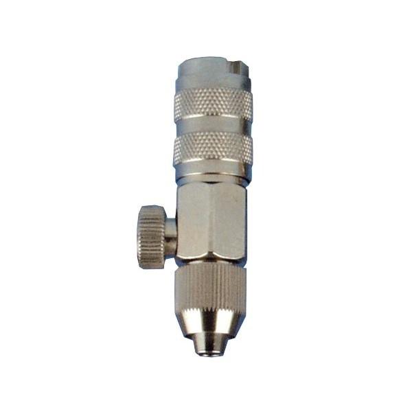 Airbrush Kupplung NW 2,7mm mit Regler & Schlauchtülle 3,3 x 7