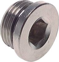 "Cap for 1/8"" external thread with seal"
