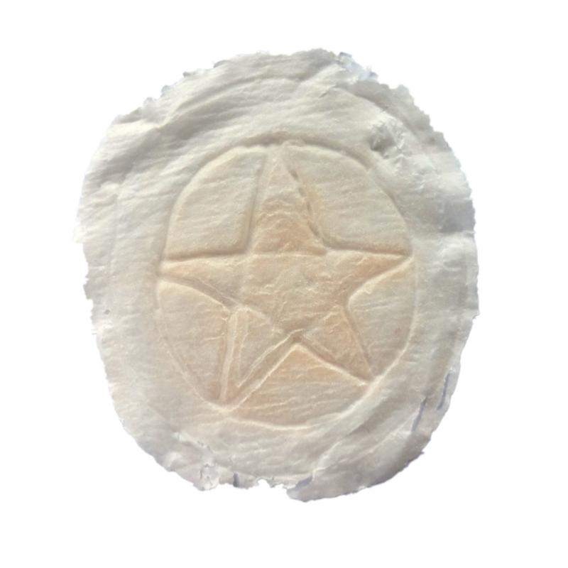 Brandzeichen Pentagramm Latex Applikation