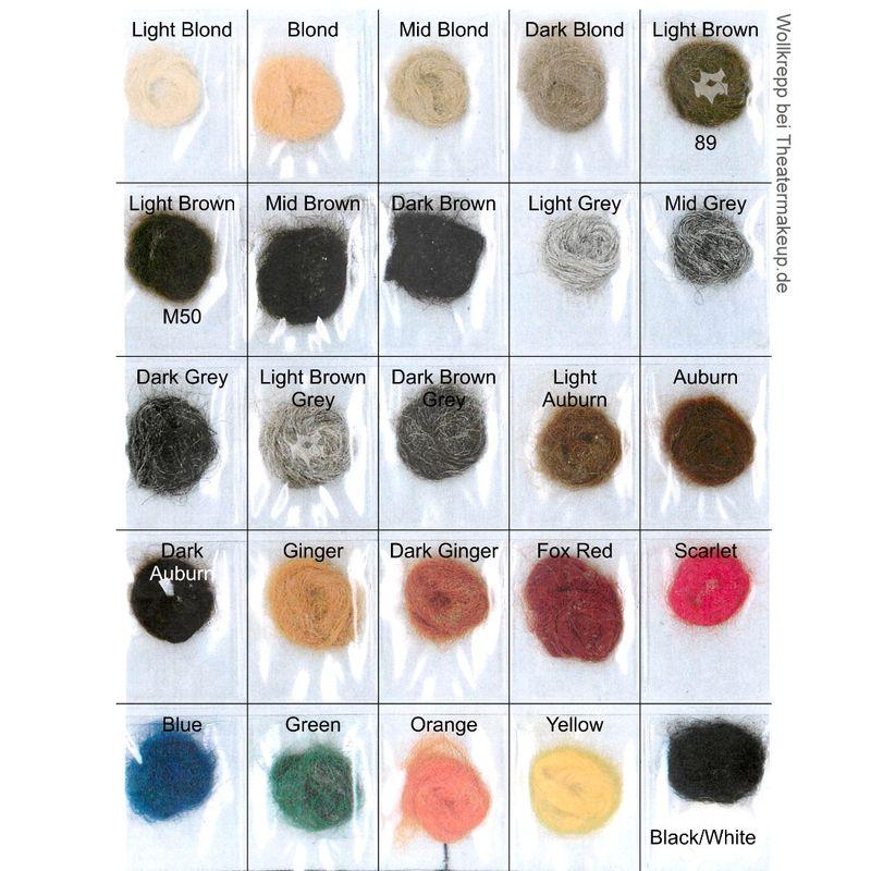 Wollkrepp ab 1 Kilo zum Herstellen von Bärten und Haarteilen