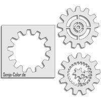 Airbrush Spray paint stencil Gear Wheel Design three-piece kit Airbrush Spray paint stencil Gear Wheel three-piece set