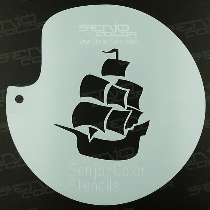 Stencil sailing ship 03 Senjo-Color art stencil