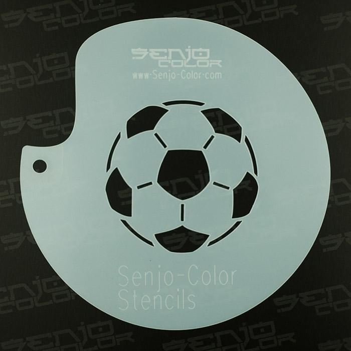 Schablone Fußball Senjo-Color Art Stencil