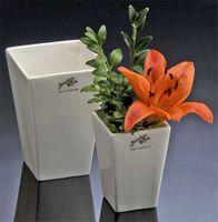 Porzellan Vase SQUARE 9  weiss