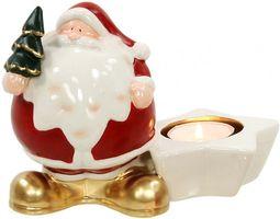 Porzellan-Weihnachtsmann mit Teelichthalter