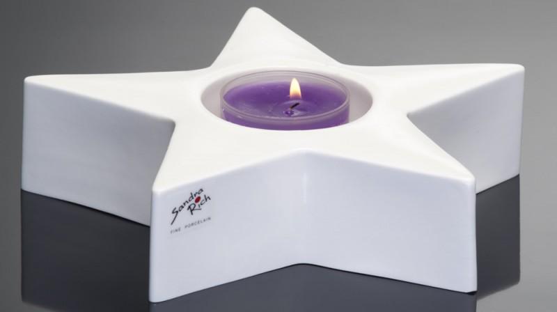Porzellan Kerzenhalter ø22 weiss